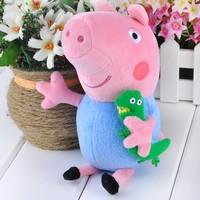 5Pcs/Lot Wholesale New peppa pig plush toy & george pig 19cm plush cute kids toddler toys brinquedos 20012