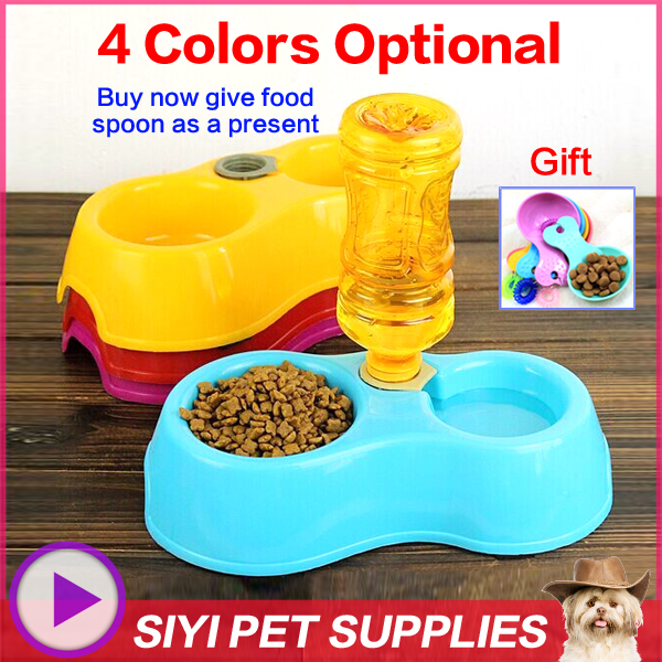 feeder for cats automatic pet feeder double bowl Dog Feeding & Watering Supplies eco-friendly slip-resistant cat water dispenser(China (Mainland))