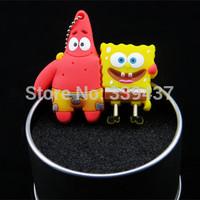 Wholesale and custom Spongebob squarepants sent great stars one usb flash drive cartoon lovers memoryt card present pen drive
