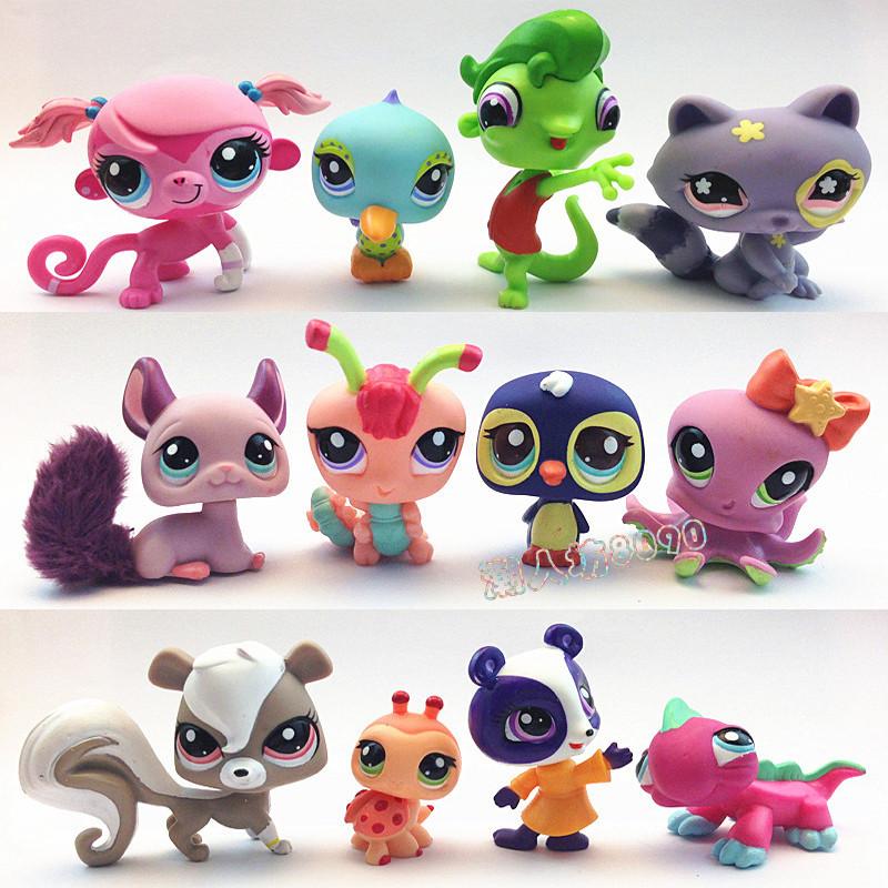 "10Pcs/lot 2.4"" inch my classic toys littlest pet shop little pet shop LPS Animasl Loose action figure (10 different style)(China (Mainland))"