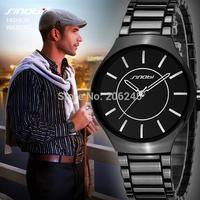 New SINOBI Brand Unisex Full Steel Watches Men Women Military Watch Bussiness Male Clock Fashion Quartz Watch