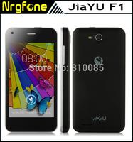 WCDMA JIAYU F1 3G phone 4GB ROM MTK6572 1.3Ghz dual core 5.0MP 800*480 android smart phones Russian Magyar 2400MAh metal frame