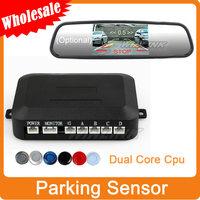 Wholesale Car Parking Sensor Car Reversing Backup Radar Sound Alert+4 Sensors Support Distance Visible Sound Alarm system