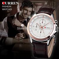 New Fashion CURREN Men Quartz Wristwatch Leather Strap Watch Men Military Watches Business Waterproof Watch MN4704