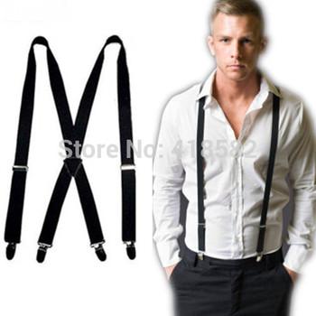 BD002-- Модный Черный Цвет 4 clips Men's suspenders 2.5 cm Женщины Брюки suspenders
