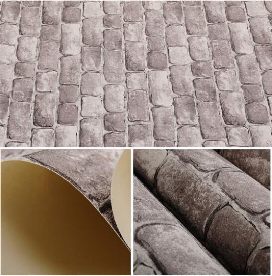 Achetez en gros papier peint de brique en relief en ligne - Papier peint brique relief ...
