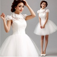 white lace Bridesmaid Dresses Bride 2014 elegant Princess ball gown fiesta .  1258 Y