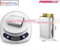 100% Original Pineng Mobile Power Bank PN-902 5000mAh LED Flashlight External Battery Pack For Ipad Galaxy S5 S4/Silver