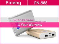 New 2014 Original Pineng Power Bank PN-929 15000mAh External Battery Charger Dual USB For Mobile Phone/Ipad / White