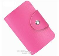women double hasp business card holder male bank card case fashion men credit card bag 24 bits card stock wholesale 6pcs 50% 0ff