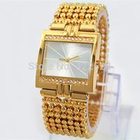 2014 New Fashion Women Dress Watch Luxury Diamond Bracelets Clock For Lady Silver Stainless steel   gift box freeshipping