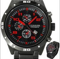 new real hardlex stainless steel analog 2014 brand watch men curren sports watches wristwatches quartz male clock Round