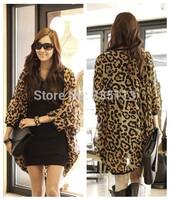 Newly 2014 Women Summer Zanzea Stylish Leopard Printed Batwing Sleeve Chiffon Long Loose Blouse Shirt