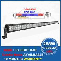 Free Shipping 52'' 24000lm 288W Cree LED Work light Bar LED Spot lights 4X4 Truck Lamp Bar Offroad Light Driving Lights