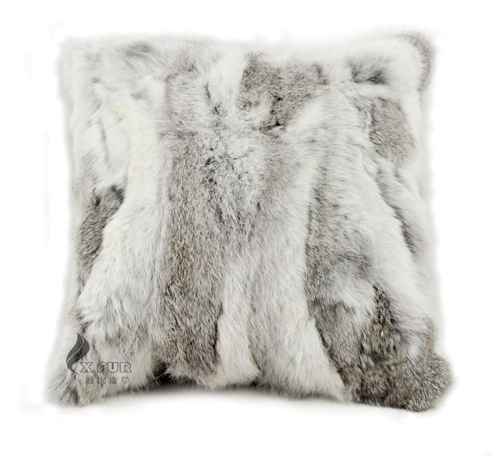 Achetez en gros coussin de fourrure de lapin en ligne for Housse de coussin fourrure
