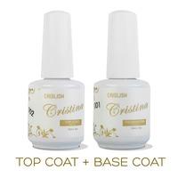 2PCS/LOT Cristina Professional Soak Off Gel Nail Polish Nail Art Top Coat Base Coat Set Uv Nail Gel Varnish Nail Tools