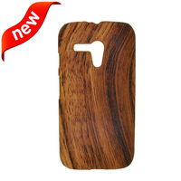 1 Pcs Hard PC+ Wood Grain Pattern PU Back Case Protective Phone Case for Motorola Moto G X1032 Phone Case Free/Drop Shipping