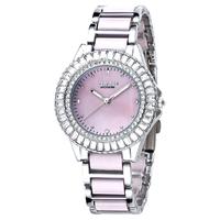 Hot EYKI genuine diamond mother of pearl face ceramic bracelet quartz watch fashion casual waterproof women