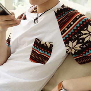 Free Shipping new 2014 men's summer clothing t-shirt the trend of the short-sleeve T-shirt basic shirt slim male(China (Mainland))