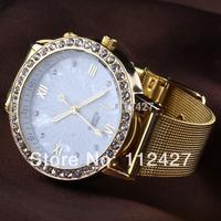 2014 new Free shipping EMSX10XA08 women dress watches women rhinestone watches diamond bracelet gemstone stainless steel watches