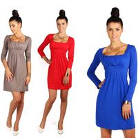 winter dress 2014 new brand fashion autumn casual dress long sleeve party dresses plus size sexy dress vestido de festa  D057