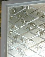 3D Bamboo Static glass windower film self-adhesive  offce window Privacy sticker width60cm MOQ 2Meter