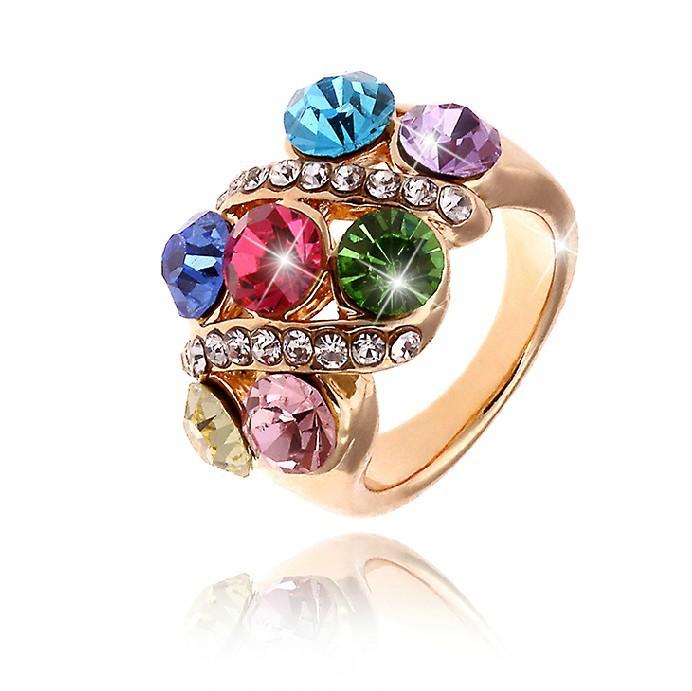 se apresuraron 2014 la anel de 18 quilates magnífico anillo plateado o de cristal sintético anillos de cristal para la mujer y de la moda de joyería no minorder rg001
