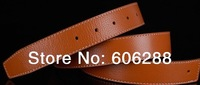 H shape gold/silver  head buckle Cowhide leather belt  2 side wear genuine leather belt 6 colors choose
