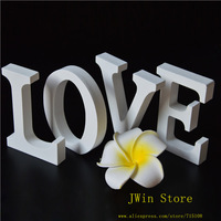 Free Shipping Standing White LOVE Wooden Letter Alphabet A-Z Wedding Gift  Decorative  Store Decor Size 8cm high 4pcs/lot