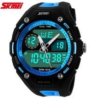 Fashion New Men Sports Watches Military Watch Dual Time Digital Quartz Chronograph Jelly Swim Dive Dress Wristwatches 5color