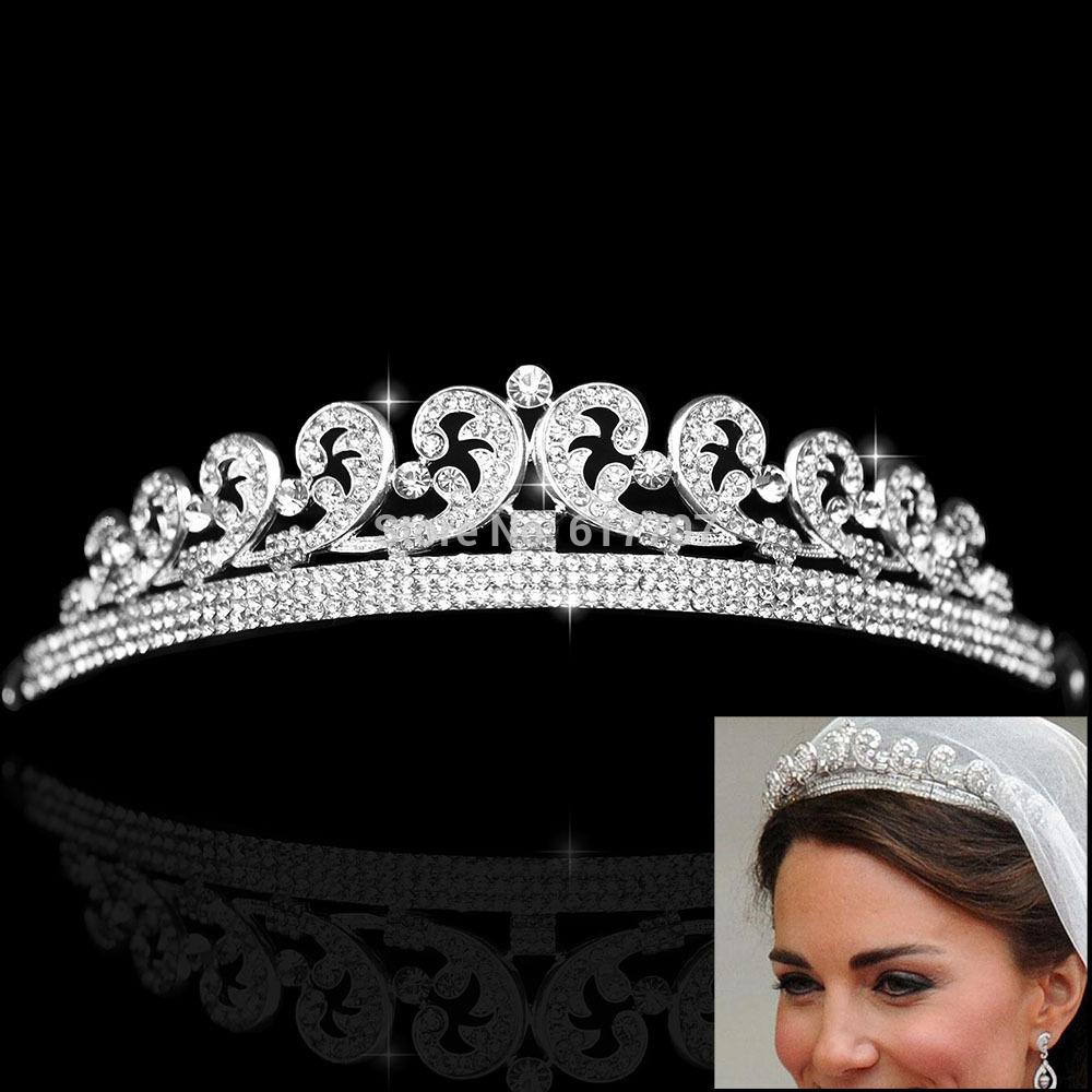 2014 New Classic Queen Rhinestone Crystal Crown Tiara Bridal Wedding Hair Jewelry Wedding Hair Accessories HG002