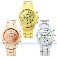 Bling Ladies Women Girl Unisex Stainless Steel Quartz Viser quartz women dress watch for free shipping 3 colors to choose