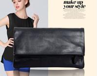 Freeship! women PU leather fold clutch bags  party evening bag women's fashion shoulder message bag girls brand designer clutch