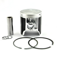 CR250 Piston & Piston Rings Set Motorcycle Parts Cylinder Piston Kit for CR250 CR 250 +50 0.5mm Oversize Bore Size 66.5mm New