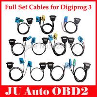 Full Set Cables For Digiprog III Digiprog 3 Odometer Programmer Digiprog3 Digiprog 3 Cable With DHL/EMS Shipping