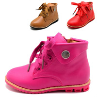 Free shipping winter waterproof snow boots kids 2014 shoes, boots child flat shoes run brand girls leather shoes sports boots 06