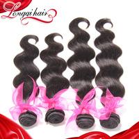 longqi hair products 6a grade body wave Brazilian Virgin Hair Weaves, unprocessed brazilian human hair weave wavy LQBBW007