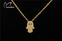 $10 free shipping 2014 statement Pendant Vintage Shiny Gold hand and evil eye Harry Potter Necklace for women