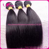 Beyo natural black brazilian virgin hair straight 100 ,cheap brazilian hair 3 pcs lot  no tangle and shedding human hair weave