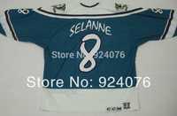 1995-96 Wild Wing Teemu Selanne #8 Anaheim Mighty Ducks Jerseys Green - Customized Any Name And Number Swen On (XXS-6XL)
