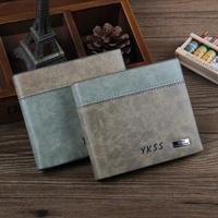 2 style men wallets 2014 new fashion vintage men Medium style PU leather male wallet men designer luxury carteire