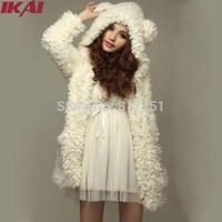 Autumn Winter Women's Coat Jacket Stuffed Clothing Hooded Wool Coat New 2014 Warm Waistcoat Coats Outwear For Women NBA268