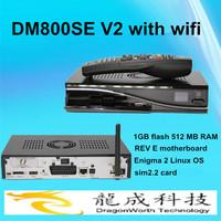 2014 new Satellite Receiver Decoder Enigma2 Linux dm800se v2 wifi DM800 SE V2 PVR HDTV WIFI DVB-S2/S tv receiver free shipping