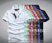 Free shipping  high quality men's short sleeve t-shirt men casual 100%cotton t shirt M L XL XXL  XXXL