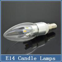 1x E14 led lamp AC 110V 220V 4W SMD 5730 candle light pendant  droplight spotlight crystal Bulbs silver chandeliers