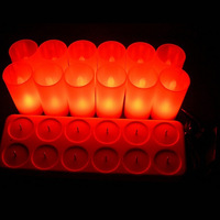 15Lots 12pcs  Rechargeable LED Candles With Small Yellow Tealights Wholesale For Resale  To Win Your Market rechargeable candle