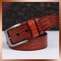 Free Shipping Hot Sell Men Belt Low Price Leather Men Belt Strap Brand Designer Belt Men's Alligator Pattern Pin Buckle