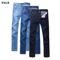 VaLS Brand Jeans Men:2014 New Arrivals Ultra-thin Big Size Spring Summer Cotton Long Denim,Casual Slim Male Pants Trousers Jeans