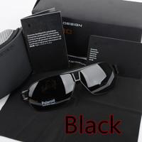 New Hot!Outdoors Sports Driving Sunglasses Aluminum Magnesium Alloy  Protective Goggle Polarized Glasses Men Black Frame