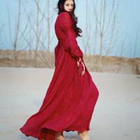 [LYNETTE'S CHINOISERIE - MOK ] Original Design Pleated Fluid Chinese Style High Waist Vintage Royal Women Dress Sz S M L